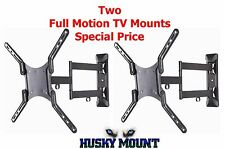 Price Deal on Two Full Motion TV Wall Mounts Fits 32 40 42 47 50 55 inch LED LCD