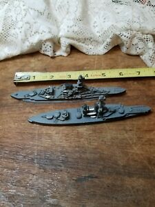 MALAYA & IRON DUKE BR BB Battleships 1:1250 Scale Model Flat Water
