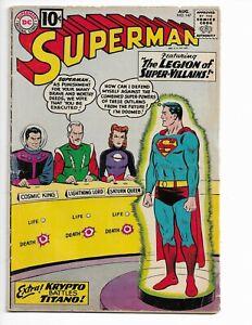 SUPERMAN 147 - VG 4.0 - 1ST LEGION OF SUPER-VILLAINS -  LEX LUTHOR (1961)