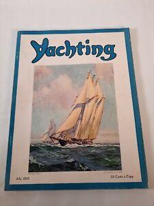 Vintage july 1935 Yachting magazine .Boating advertisements
