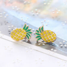Popular Women Girl Pineapple Shape Metal Stud Earrings Ear Stud Fashion Jewelry