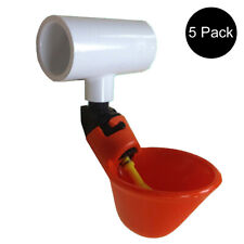 5 Automatic Waterer Drinker Cups Amp 12 Pvc Tee Fitting Chicken Water Poultry