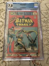 Batman Family #1 CGC 7.0 White Pages Sep-Oct 1975, DC Grell Giant Batgirl