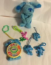 Blue's Clues See And Say Junior Musical Dog 4 Hang Clip On Figures Plush Vtg Lot