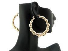 New Celebrity Style Hollow Bamboo Pincatch Hoop Pierce Fashion Earring XE1121-5