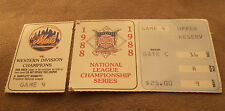 NEW YORK METS TICKET STUB  1988 NATIONAL LEAGUE CHAMPIONSHIP SERIES GAME 4.