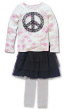 New Girl Flapdoodles 3pc Skirt Legging Peace Sign Fall Winter Set Size 4