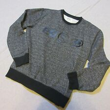 ECKO UNLTD SWEATSHIRT MEN LARGE LRG L BLACK CEMENT STYLE CREW NECK SHIRT URBAN
