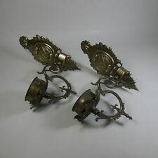 N656 COPPIA DI APPLIQUES APPLIQUE LAMPADE LAMPADARI DA PARETE IN OTTONE