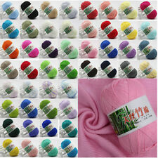 Super Soft 60 Colors Bamboo Crochet Cotton 50g Knitting Baby Knit Wool Yarn
