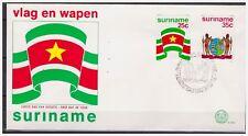 Surinam / Suriname 1976 FDC 3 Flag and Arm of Surinam