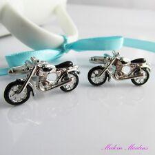 Brass Motorcycle Cufflinks 27x14mm