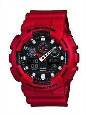 CASIO G-SHOCK GA-100B-4A Men's Watch Red