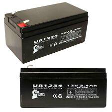 2-pack APC BACK-UPS ES BE350G Battery UB1234 12V 3.4Ah Sealed Lead Acid SLA AGM