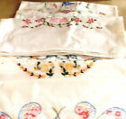 6+Different+Vintage+Hand+Embroidered+Cotton+Standard+Pillow+Cases