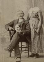 Antique Happy Husband Photo 755b Odd Strange & Bizarre