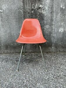 Herman Miller Eames DSX Chair Red Orange