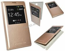 HOUSSE ETUI S-VIEW GOLD OR POUR SAMSUNG GALAXY NOTE 3 LITE NEO Lte N7505