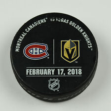 Vegas Golden Knights Warm Up Puck Used 2/17/18 VGK Vs Montreal Canadiens Game