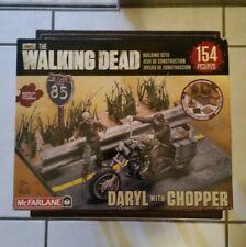 MACFARLANE TOYS BUILDING SET - THE WALKING DEAD TWD DARYL DIXON WITH CHOPPER NIB