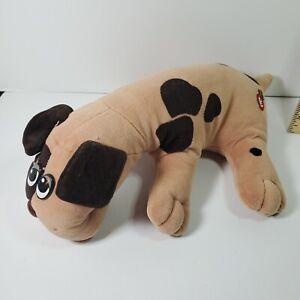 "Vintage 1986 Pound Puppy Tan with Brown Spots 17"" Long Plush Stuffed Tonka Dog"