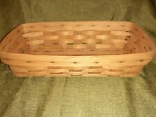 Longaberger 1990 Bread Basket with Plastic Protector Large Collectors Item
