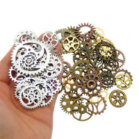 100 gram Pack Mixed Colors Metal Gears Steampunk Cogs Pendants Charms 18-40mm
