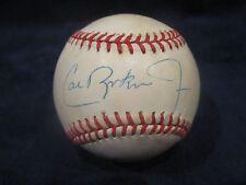 Cal Ripken Jr. Autographed Official American League (Brown) Baseball - JSA Cert