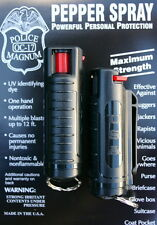 2 PACK Police Magnum OC-17 mace pepper spray 1/2oz black molded keychain defense
