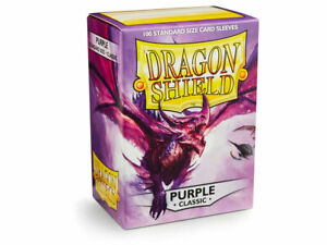 Classic Purple Case Display Dragon Shield Standard Size Sleeves - 10 Packs