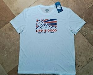*NWT Life is Good Graphic Short Sleeve Tee Shirt Cotton Blend White 2XL
