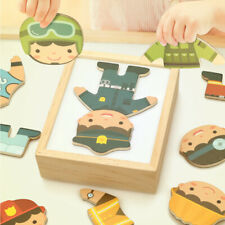 Changing Clothes Puzzle Wooden Baby Boy Set Children Kid Xmas Gift