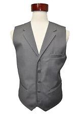 Men's  gray color wool feel suit vest with lapel  size  ( 48 ) R