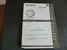 ORIGINALI service manual AIWA csd-mr1