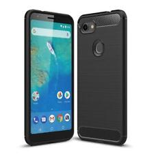 Google Pixel 3a XL Handy Hülle Schutzhülle Etui Silikon Case Cover Carbonfarben