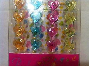 1 X Heart Shape Colorful Cute Clear Plastic Pushpins 100pcs Push Pins