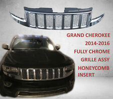 JEEP GRAND CHEROKEE 2014-2016 FULLY CHROME GRILLE ASSY HONEYCOMB INSERT