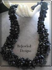 Gemstone Chipweave Blue Goldstone Necklace