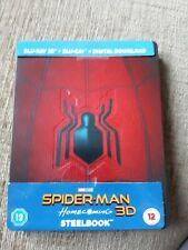 SPIDER-MAN HOMECOMING 3D/2D BLU RAY STEELBOOK - TOM HOLLAND - MARVEL