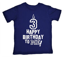 "3 Birthday T-Shirt ""Happy Birthday to Me"" Boy Girl 3rd Third Three Party Clothes"