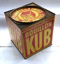 ANCIENNE BOITE BOUILLON KUB ANNÉES 1930-40 162 BARRES DE 5 UNITÉS 6 FRANCS 17 CM