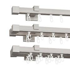 Gardinenstange Vorhangstange 20mm 1-, 2-, 3-läufig Satin Nickel Mat Metall