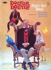 1967 Vintage Doctor Dolittle Press Out Book Complete & Unused ~ Whitman #1935