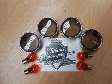 Clignotants verres teinté avec Chromring Harley-Davidson softail/sporster/DYNA