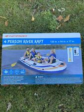 New listing 4 PERSON RIVER LAKE WATER RAFT PATHFINDER Oars Hand Pump included New Ships Fast