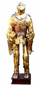 Aged Antiqued Medieval Knight Suit of Armor Combat Full Body Armour Replica Suit