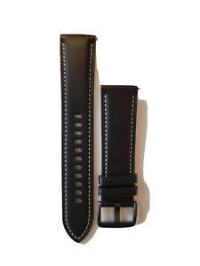Samsung Stitch Leather Band for Galaxy Watch3 - Black, M/L (22mm)