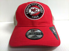 YOUTH Kansas City Chiefs Cap New Era 9Twenty Circle Adjustable Mesh Trucker Hat