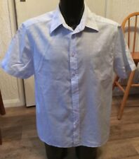 "H&M Conwell Light Blue Cotton Shirt Size XL 43-44"" Chest"
