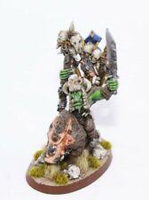 Warhammer Fantasy Orcs & Goblins Shaman on War Boar Boyz Metal oop pro painted